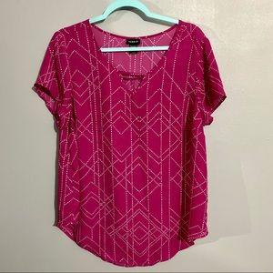 Torrid Pink top, size 0